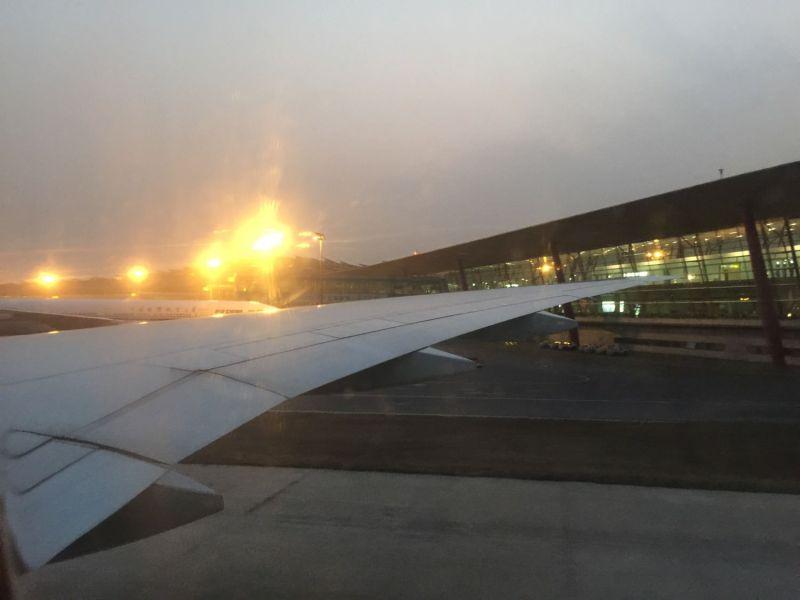 抵達北京的傍晚,天空仍然壟罩著傳說中的霧霾