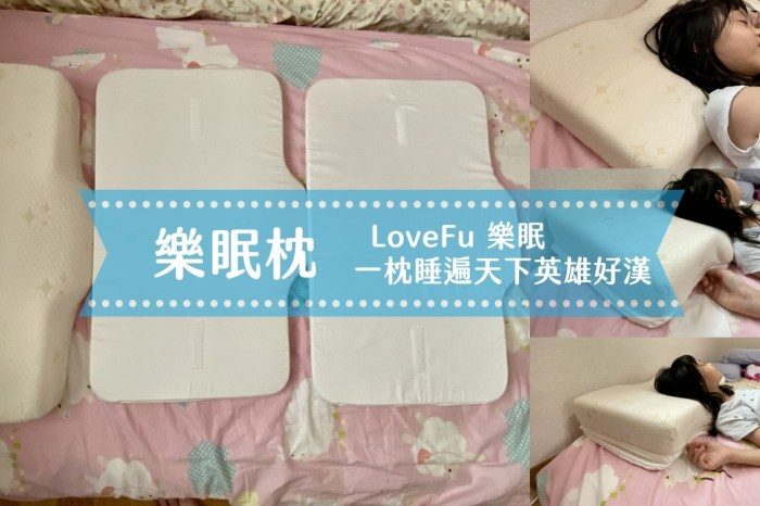 【愛好物】樂眠 LoveFu 樂眠枕,一枕子打翻一船人的超狂設計