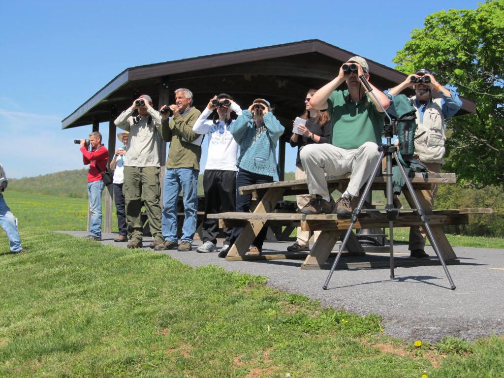 Lancaster County Conservancy 2013 Trainees view waterfowl at the Middle Creek Wildlife Management Area