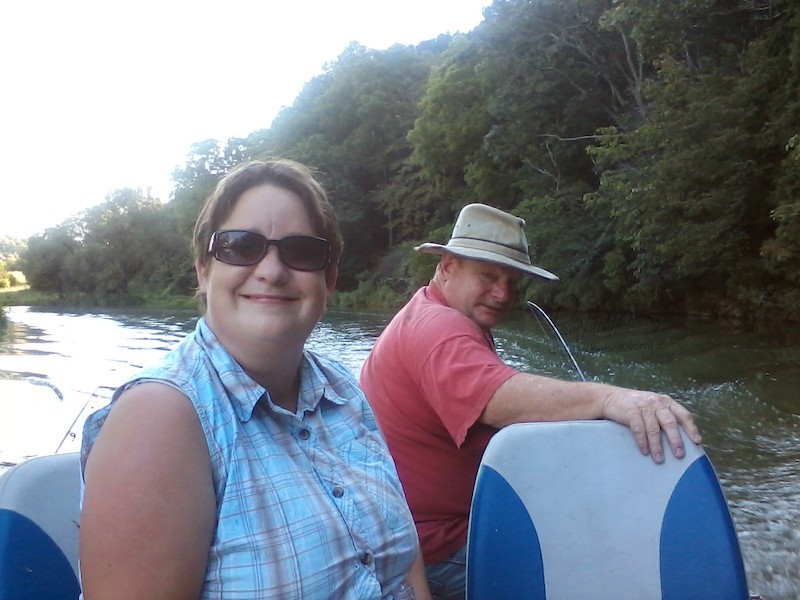 Julie and Albert on Reed Creek