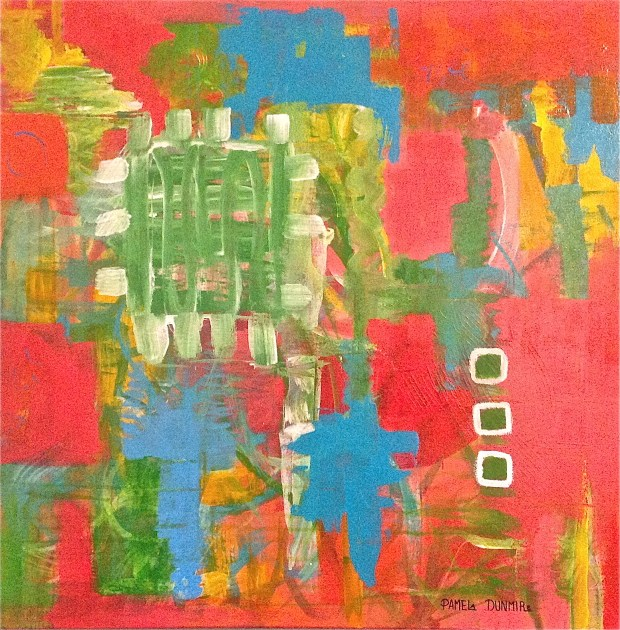 """ Compartments"" Acrylic on Gallery Wrap Canvas 30"" x 30"" http://www.pameladunmirefineart.com"