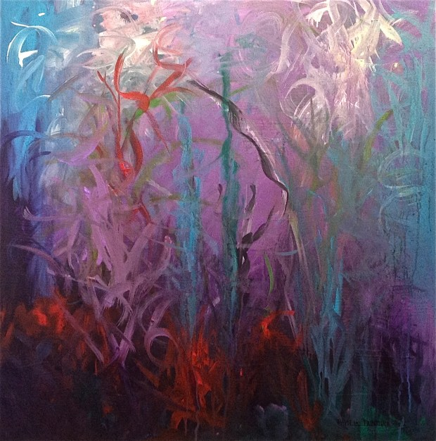 """Diving Deep"" Acrylic on Gallery Wrap Canvas, 30""X30"" http://www.pameladunmirefineart.com"