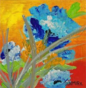 """China Garden"" 8"" x 8' Acrylic on Gallery Wrap Canvas   $99.00 www.pameladunmirefineart.com"