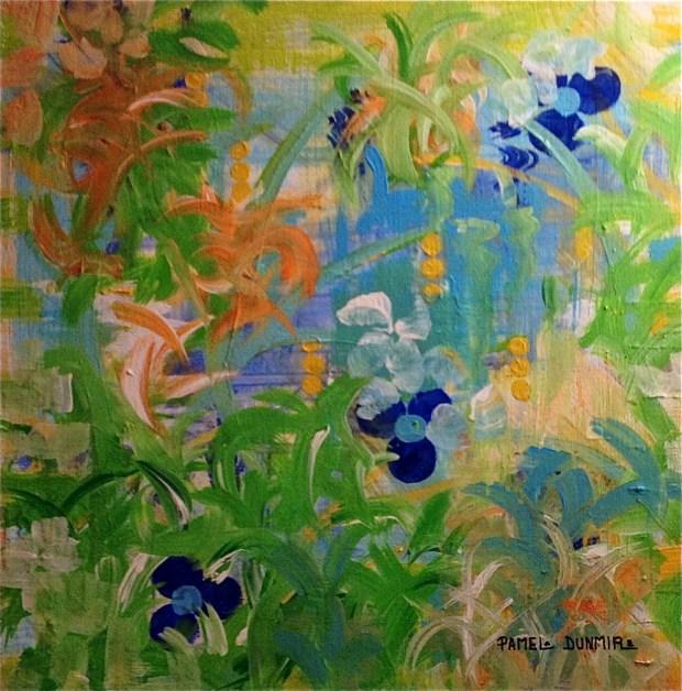 """Garden Trellis""  26"" x 16"" Acrylic on Gallery Wrap Canvas http://www.pameladunmirefineart.com"