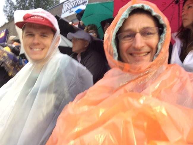 johnny and eric in rain watching sciac 2015