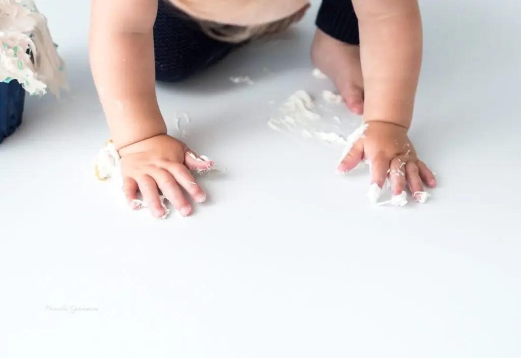 Cake Smash Baby Details 1 year photos ohio