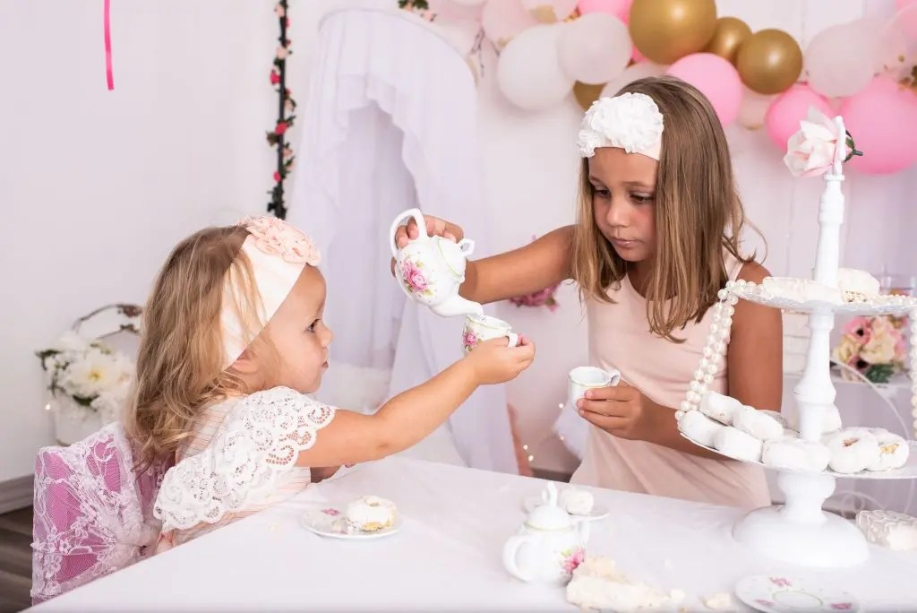 Tea Party Photography Siblings