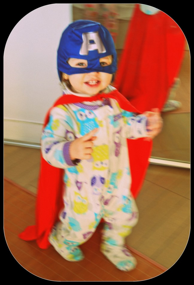 Not really China related but just so cute I couldn't resist posting it: Isabel as Superman / Captain America