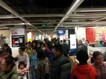 Crowds at IKEA