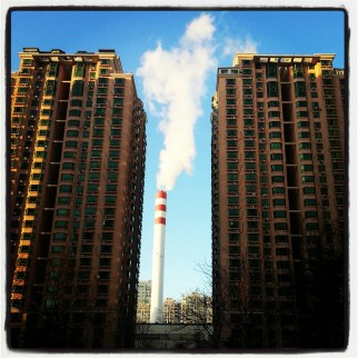 A Coal Burning Smokestack. Coal is the largest producer of the PM2.5 particles and 70% of China's energy consumption is linked to coal.