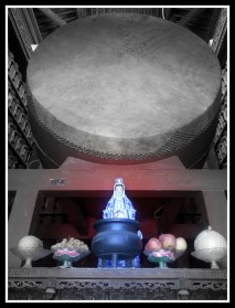 Image of Guanyin with Drum in the background