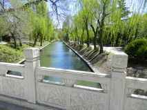 This canal goes leads to the Summer Palace and to the Beijing Zoo