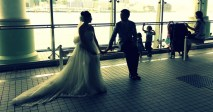 Wedding photos aboard the ferry