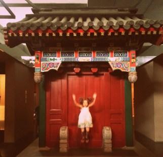 a traditional hutong neighborhood door