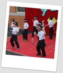 The boys doing their hot Children's Day dance again