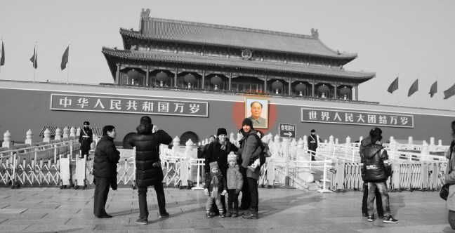 Mao dominates the square