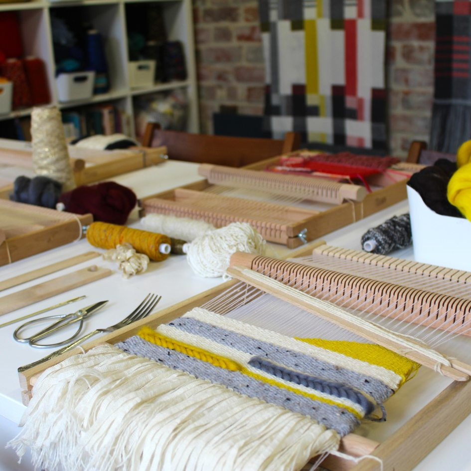 Pamela Print Weaving Workshop Course Handweaving frame loom Writtle Essex