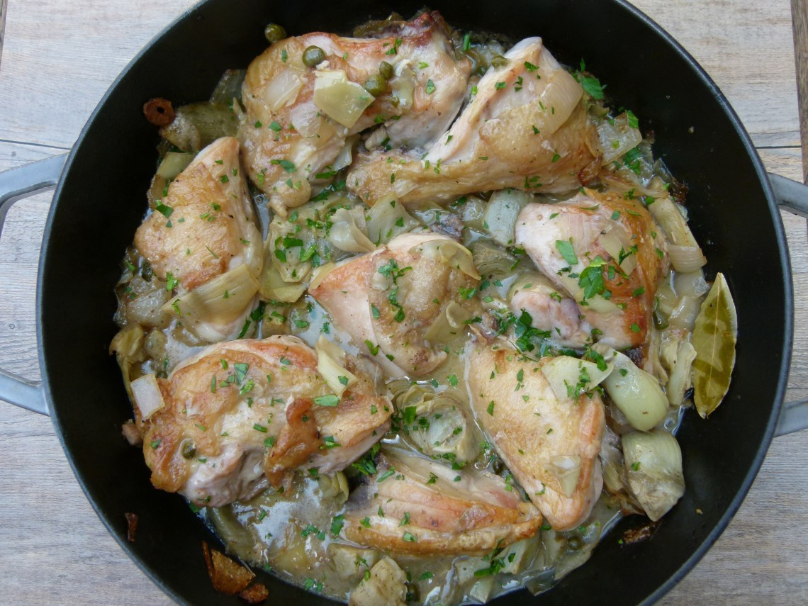Baked Chicken with Artichokes and Capers Recipe