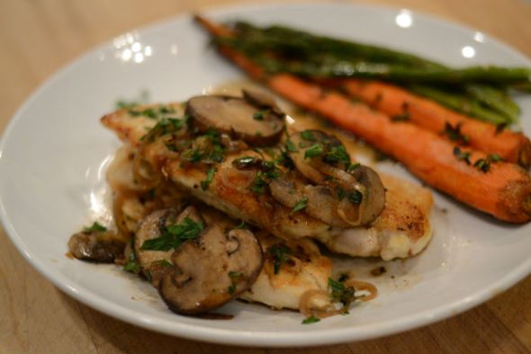 Chicken With Marsala, Mushrooms and Shallots