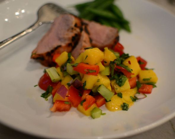 Pork Tenderloin with Mango Salsa