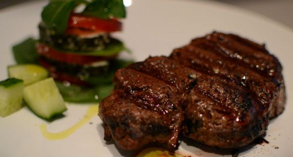 Rib Eye Steaks with Soy Mustard Glaze