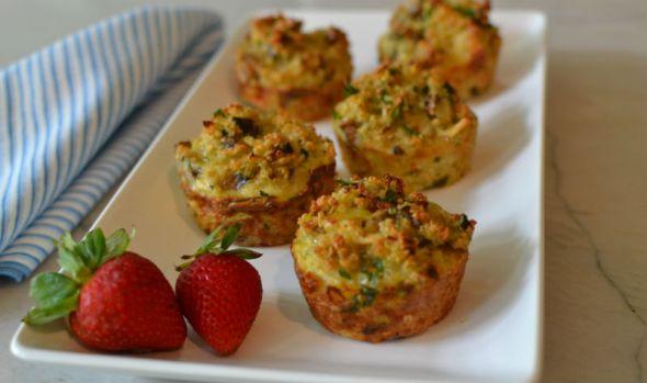 Savory Breakfast Muffins with Quinoa, Mushroom and Leek