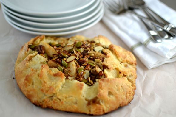 Galette with Pears and Nut Crumble