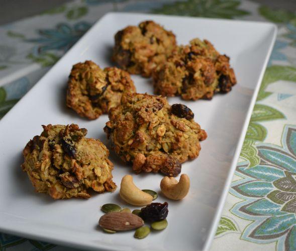 Peanut Butter Trail Mix Breakfast Cookies