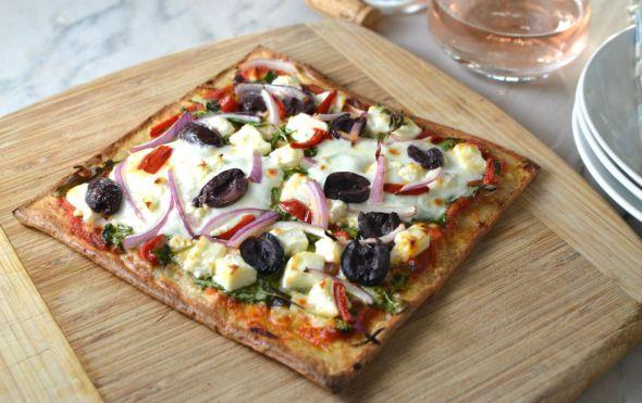 Grilled Quinoa Pizza