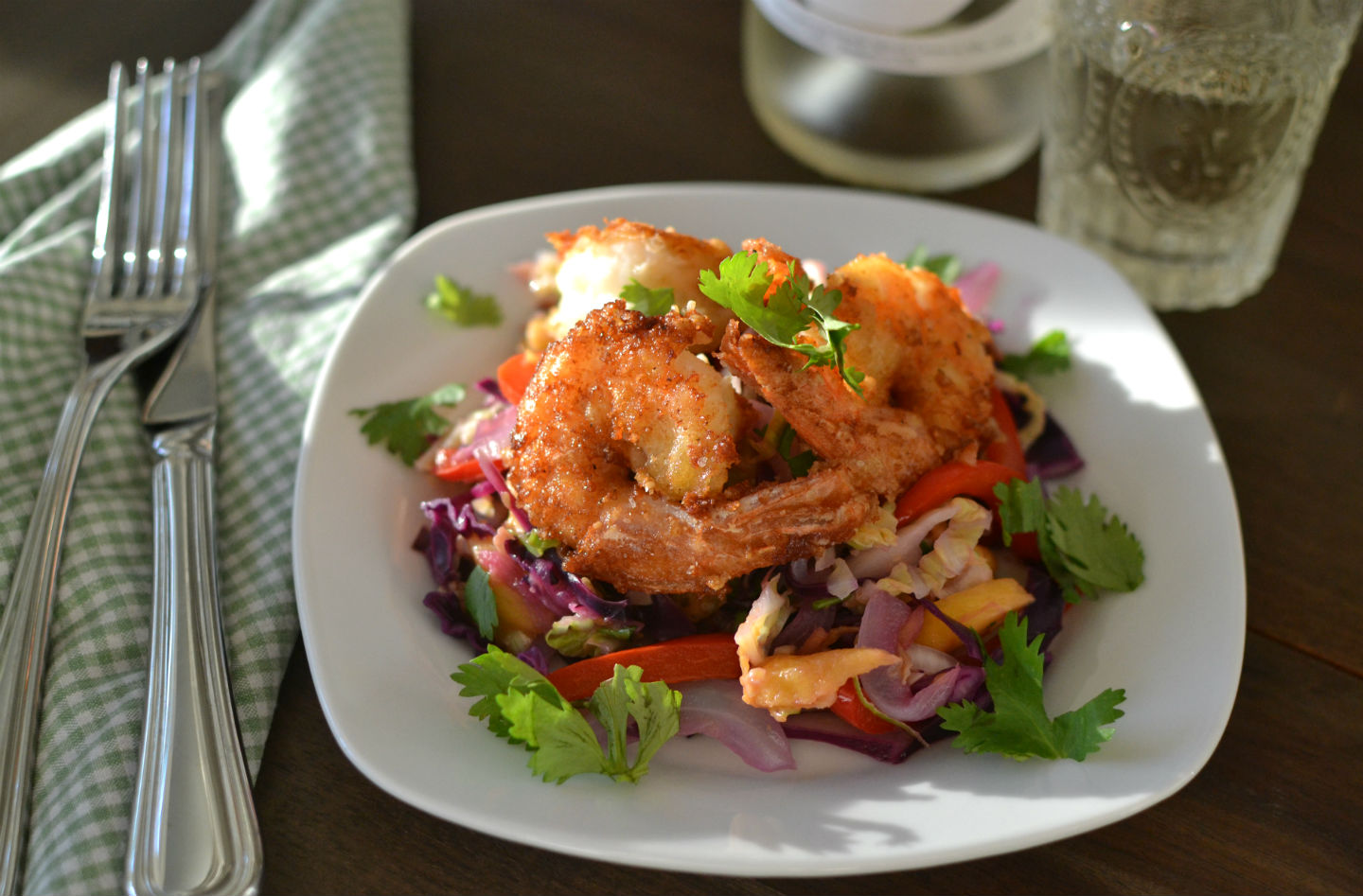 Crispy Shrimp with Asian Coleslaw