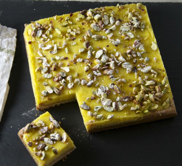 Lime Pistachio Bars
