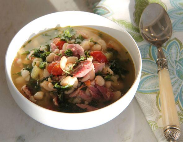 Bean Smoked Turkey Kale Soup