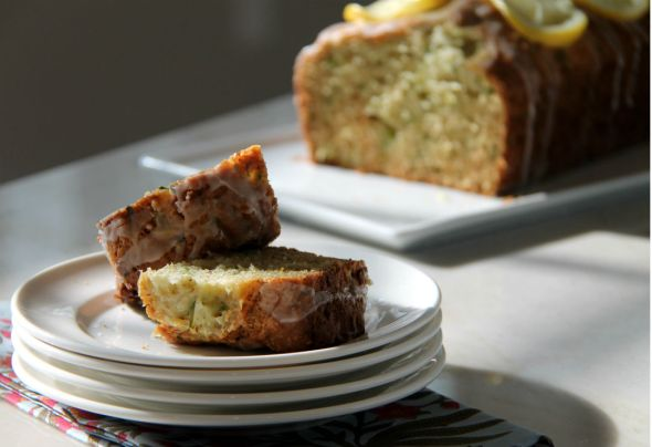 Lemon Zucchini Loaf with Lemon Drizzle