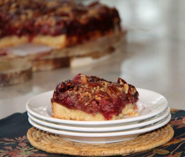 Raspberry Pecan Tart Squares