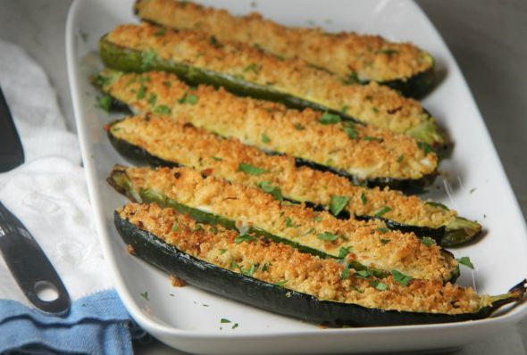 Zucchini with Crispy Breadcrumbs