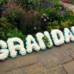 White carnations reads Grandad