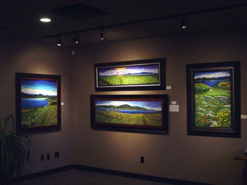 Art Show display Kelowna