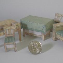 Dollhouse Sofa Canopy Cover Slipcover Paper Model