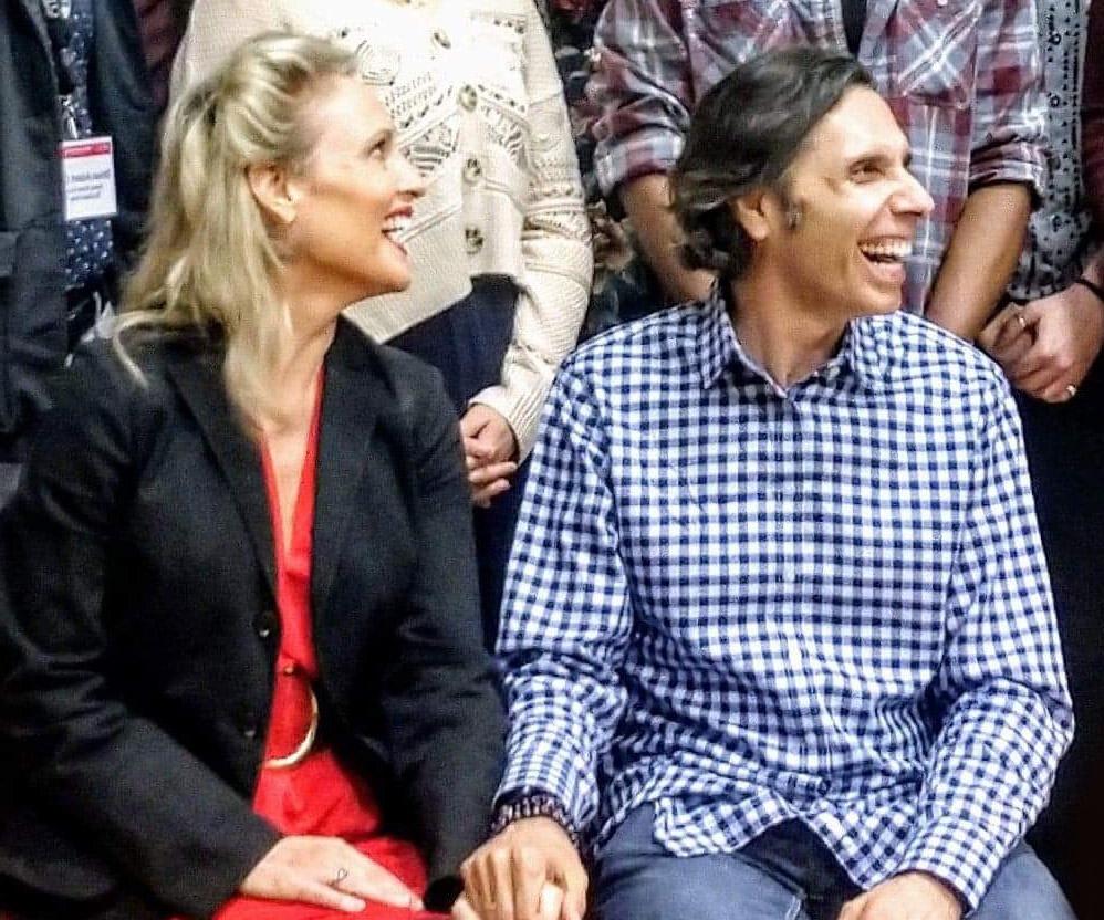 Pamela Winslow Kashnai and her husband Tim Kashani