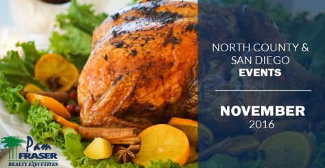 North County and San Diego County Events - November 2016