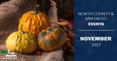 North County and San Diego Events November 2017