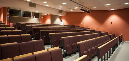 Rows of seats in lecture theatre