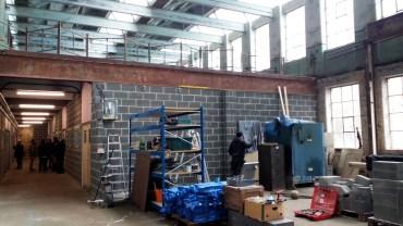 Brendan's new studio under construction