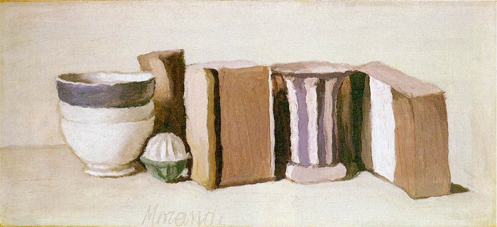 Morandi Still Life with cups and boxes 1951