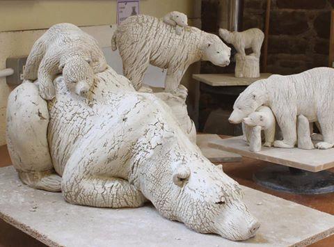 Annie Peaker Porcelain over stoneware