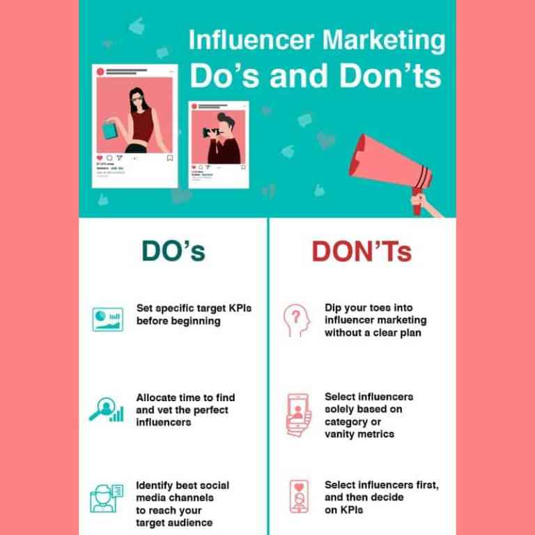 Influencer Marketing Dos and Don'ts infographic