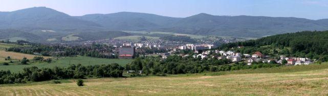 panoráma mesta Snina