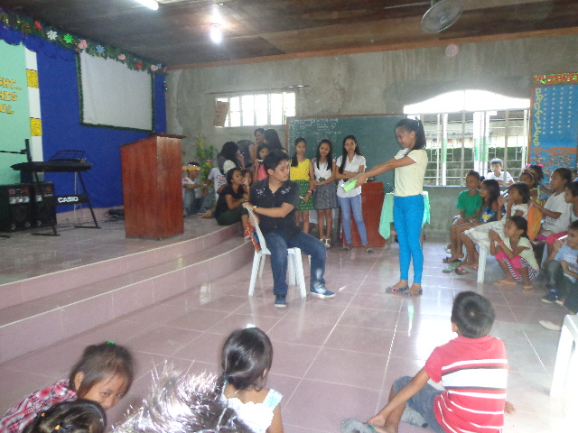 Bulan Young People performed a skit during the Dec 21st Christmas party