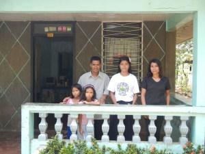 Pastor Abner Cornelio family in Donsol