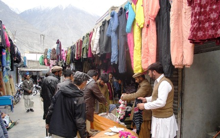 The used cloths reach GB from markets located in cities of Pakistan. Most of the products come from European countries